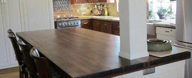 kitchen island butcher block finished with tung oil